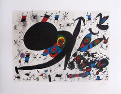 Collectible Miro, 'Hommage to Joan Prats'