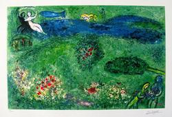 Colorful 'Orchard' Marc Chagall Giclee