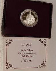 1982 PROOF Silver Washington Half Dollar Commem.