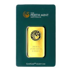 1 ounce fine gold Perth Mint Bar