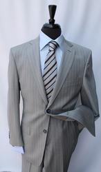 Superb Gray Color Stripe Suit, Made By Galante