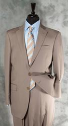 Super Fine Quality Tan Color Italian Suit By Galante