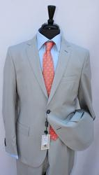 Stylish Light Gray Color Slim Fit Suit, By Galante