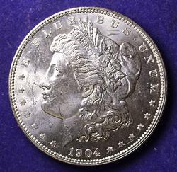 EXCEPTIONAL GEM BU 1904-O MORGAN DOLLAR