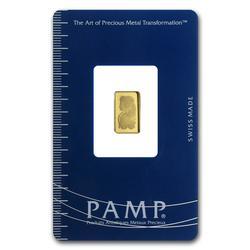 1 Gram Fine Gold PAMP Suisse Fortuna
