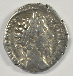 Roman Silver Denarius of Emperor Commodus, 180-192 AD