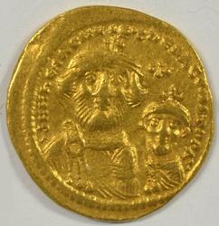 Superb Byzantine Gold Solidus of Heraklios, 610-641 AD