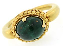 Exquisite 5.0 CT Green Tourmaline Ring in 18K