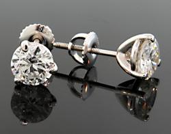 Must Have 2 Carat Diamond & Gold Stud Earrings