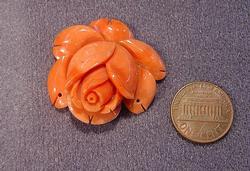 Natural Color Coral Carved Rose