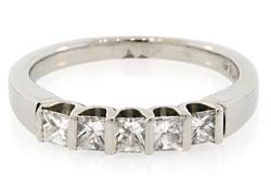 5 Diamond Band Platinum