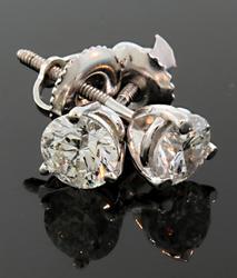 0.88 CTW Diamond Stud Earrings