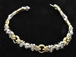 Ladies Two-Tone 14kt Gold Bracelet, Elegant