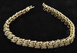 Ladies 2.5ctw Diamond Bracelet in 14kt Gold