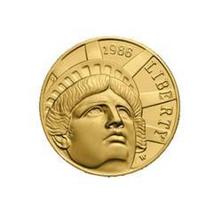Gold $5 Commemorative 1986 Statue of Liberty BU
