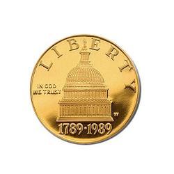 Gold $5 Commemorative 1989 Congressional BU