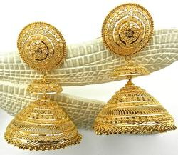 Superb & Extremely Detailed 22kt Gold Earrings
