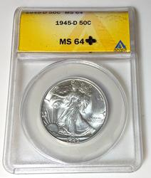 1945 D  Walker in an old ANACS MS 64 holder