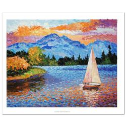Mountain Lake Sailing Giclee on Canvas- Certified!