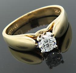 Elegant Diamond Solitaire Ring