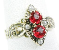 Ornate Antique 10K Gold Gemstone Ring