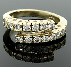 14 Diamond Bypass Ring