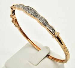 Delicate 14kt Rose Gold 2+ctw Diamond Bangle