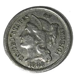 1888 Scarcer 3 Cent Nickel