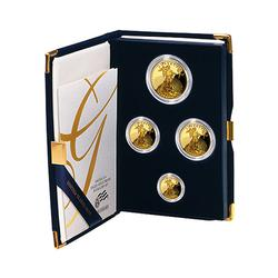 Proof American Gold Eagle 4pc Set In Box 1989
