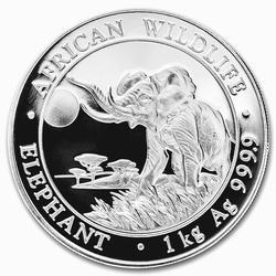 2016 Somalia 1 Kilo Silver Elephant