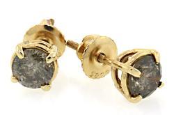 Chocolate Diamond Stud Earrings at 1.35 CTW