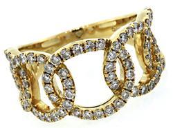 Interlocking Open Circle Diamond Ring in 18K