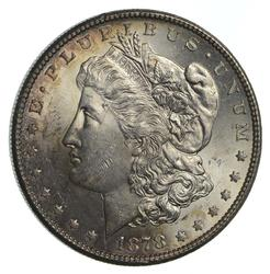 1878 Morgan Silver Dollar - 7 Tail Feathers - Not Circulated