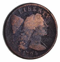1794 Liberty Cap Large Cent - Head of 95