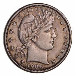 1908-D Barber Half Dollar - Circulated