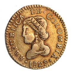 1829 Colombia 1 Escudo - Circulated
