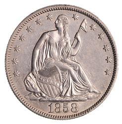 1858 Seated Liberty Half Dollar - Not Circulated