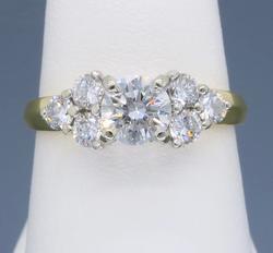 Designer GIA cert 1.03CTW Diamond Engagement Ring