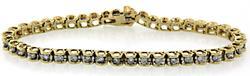 1.50 CTW Two Tone Diamond Tennis Bracelet