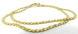 Elegant Textured Double S Link 14kt Gold Bracelet