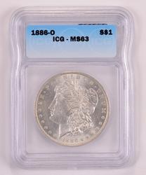 1886-O Morgan Silver Dollar ICG MS63