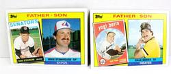 2 Topps 1985 Father/Son Baseball Cards