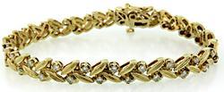 Elegant Diamond Leaf Bracelet at 1.30 CTW