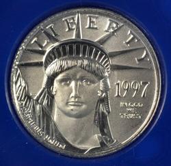 Superb Gem BU 1997 $10 pure Platinum Eagle in holder