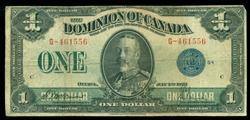 Series of 1923 Large Size Canada $1 Note