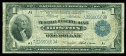 1918 Series $1 National Currency Note. Boston, MA (A-1)