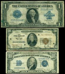 Interesting lot of 3 Different US Currency Notes