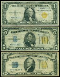 3 Diff. North Africa Silver Certificates: $1, $5. & 10