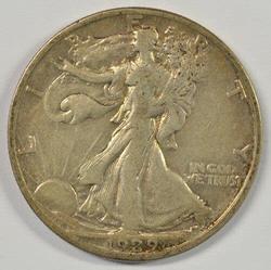 Tougher 1929-S Walking Liberty Half Dollar Circulated