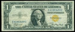 Crispy 1935-A $1 North Africa Silver Certificate note